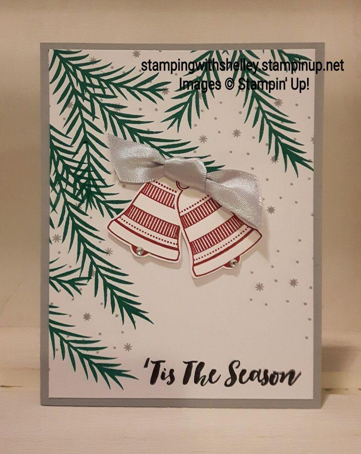 Stampinu0027 Up Christmas Pines Seasonal Bells card by