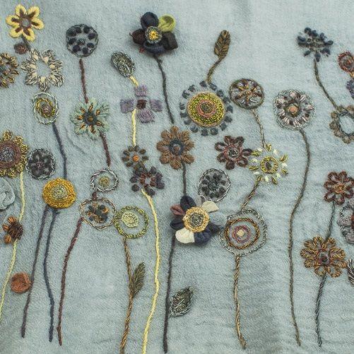 Sophie Digard - Juvenile Wool Shawl - Reef Blue/Volc