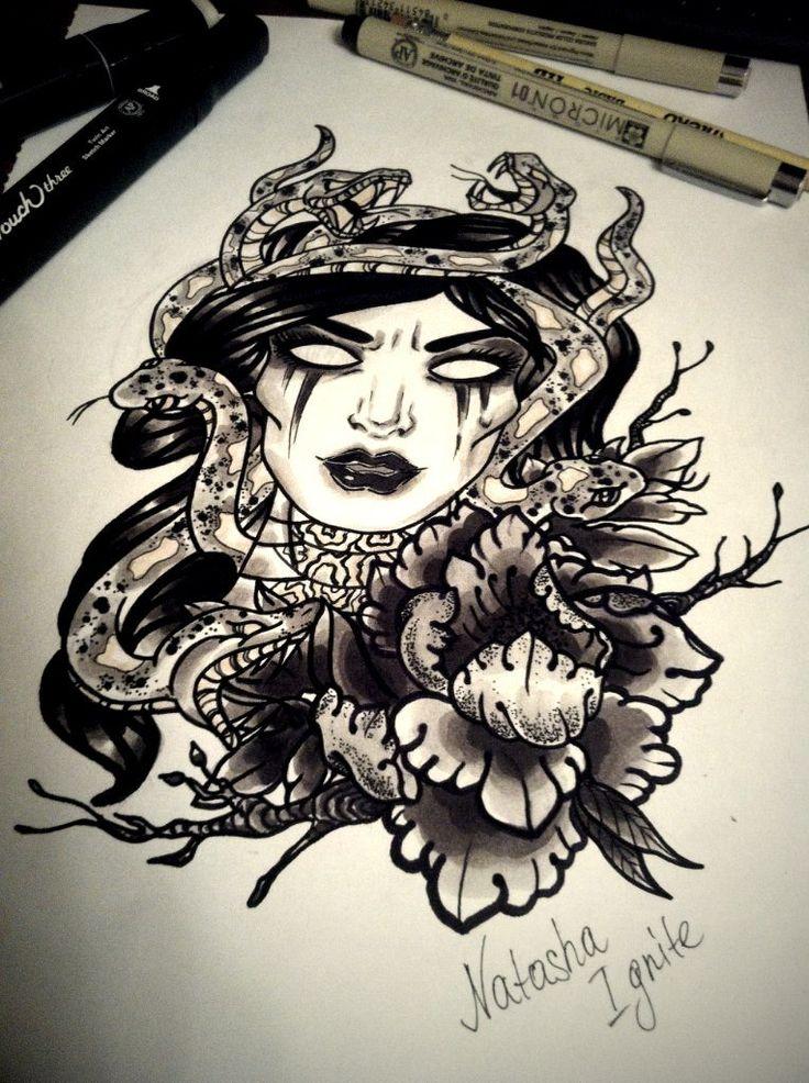 medusa tattoo design newschool