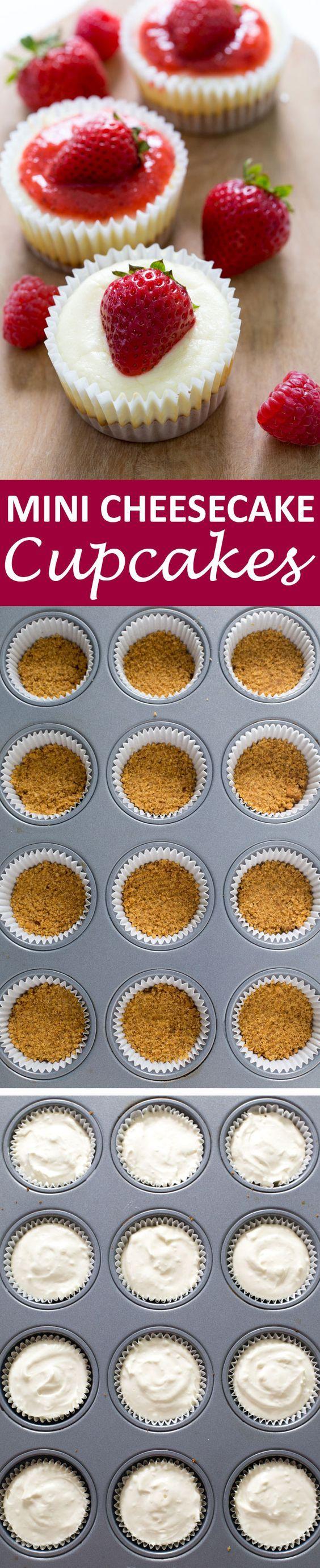 Kwarktaart cupcakes, weer eens wat anders en zo veel makkelijker serveren. van: www.chefsavvy.com