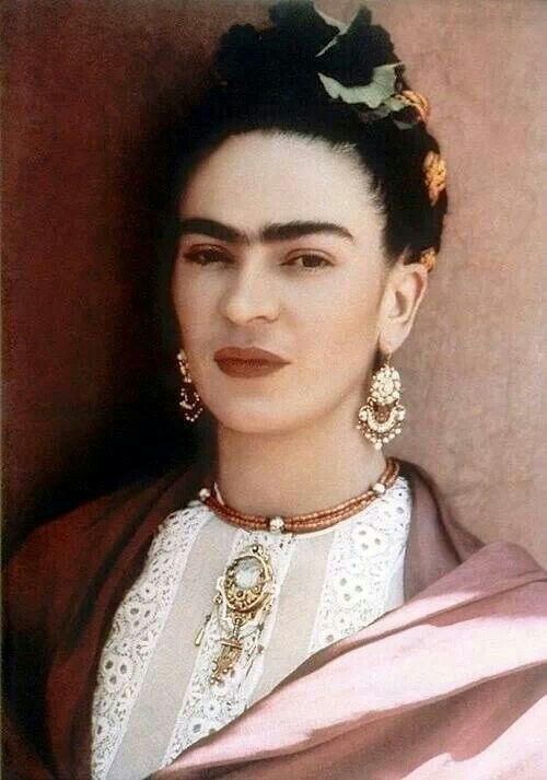 """I must fight with all my strength so that the little positive things that my health allows me to do might be pointed toward helping the revolution. The only real reason for living."" Frida Kahlo"