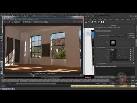 Maya 3D - Render Interior Scene (Standard Light) - Mental Ray - YouTube