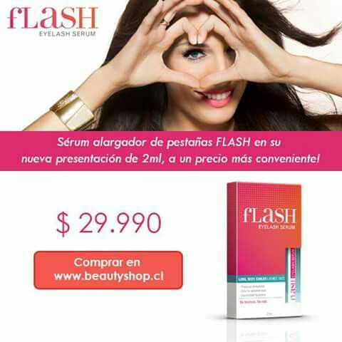 SERUM ALARGADOR DE PESTAÑAS FLASH #beautyshop WWW.BEAUTYSHOP.CL