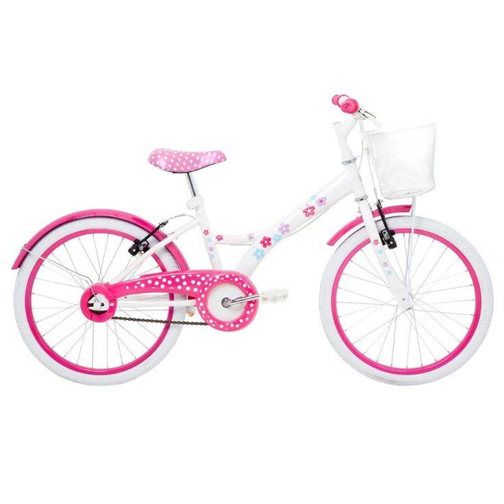 Bicicleta com cestinha menina aro 20 My Bike Branca em promoção com frete grátis. http://hcompras.com/bicicleta-de-menina-aro-20-modelo-my-bike-branca-com-cestinha/