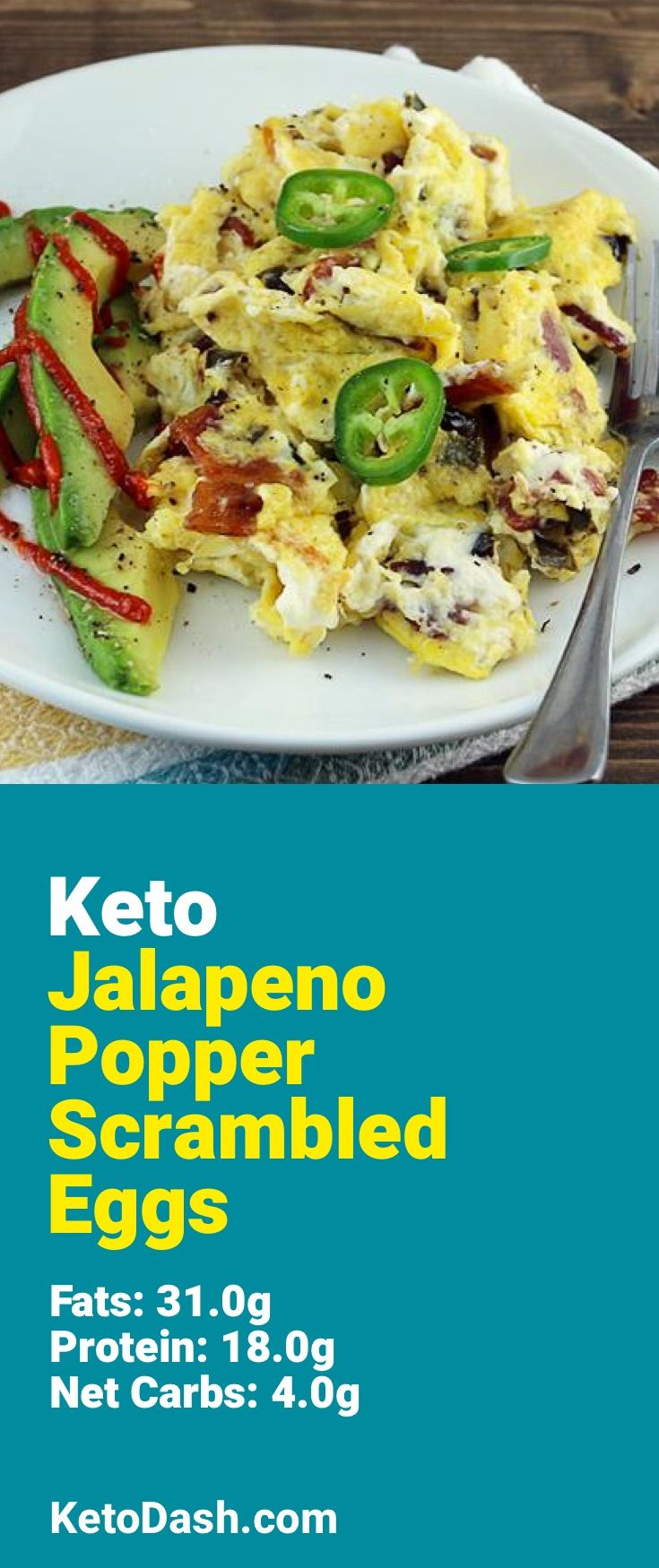 Trying this Jalapeno Popper Scrambled Eggs and it is delicious. What a great keto recipe. #keto #ketorecipes #lowcarb #lowcarbrecipes #healthyeating #healthyrecipes #diabeticfriendly #lowcarbdiet #ketodiet #ketogenicdiet