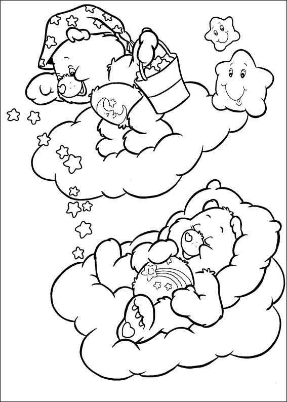 coloring pages for the carebears - photo#46