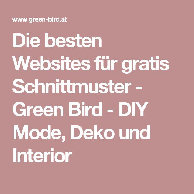 Die besten Websites für gratis Schnittmuster - Green Bird - DIY Mode, Deko und Interior