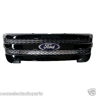 OEM NEW 2011-2014 Ford Explorer Sport Gloss BLACK Front Radiator Grille w/ Oval