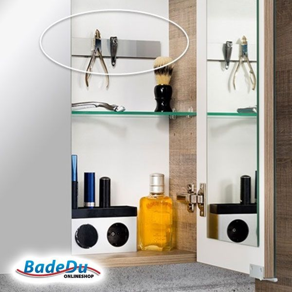 Schnell montiert. Praktisch. Hält.   Unsere Fackelmann-Magnetleiste für mehr Ordnung im Bad ist sehr beliebt - bei Ihnen auch?