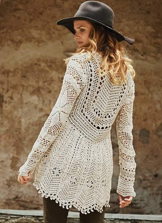 Lace from GAUCHO - crochet cardigan. Discussion on LiveInternet - Russian Service Online Diaries
