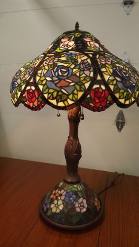 Large Tiffany Style Stained Glass Table Lamp Shade