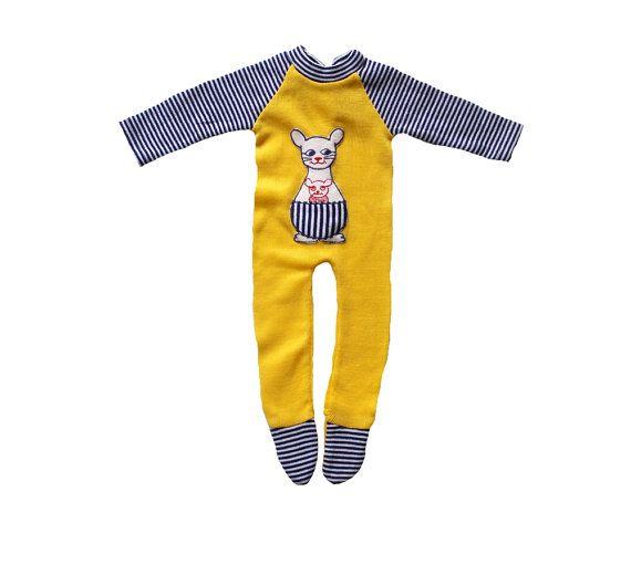 VINTAGE 70's / enfant / combinaison / pyjama par Prettytidyvintage