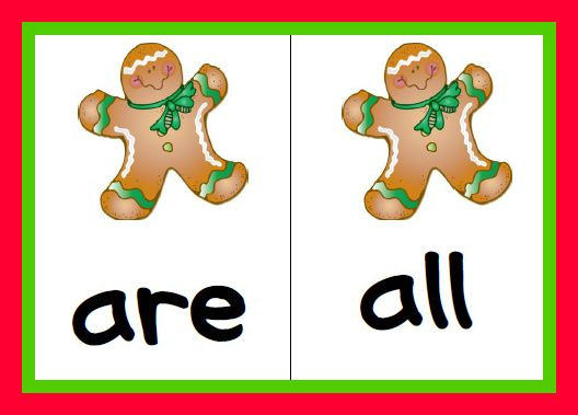 Jolly Phonics gingerbread tricky word games