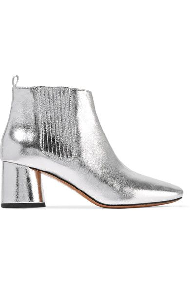 Marc Jacobs - Rocket Metallic Leather Chelsea Boots - Silver - IT39.5