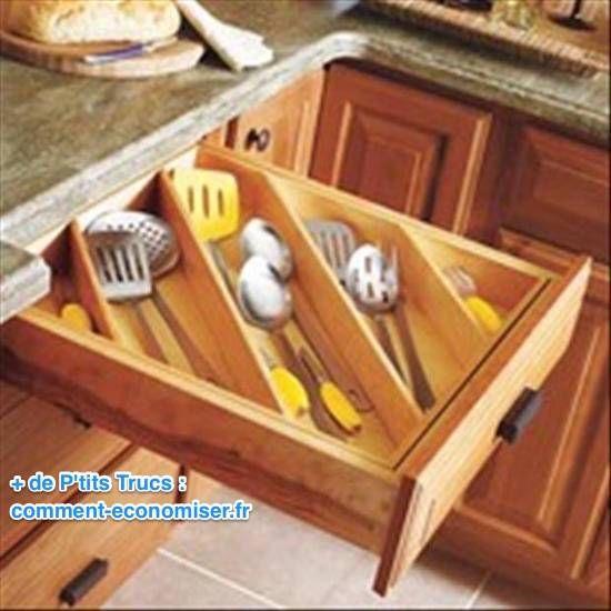 Ragement tiroir pour couverts