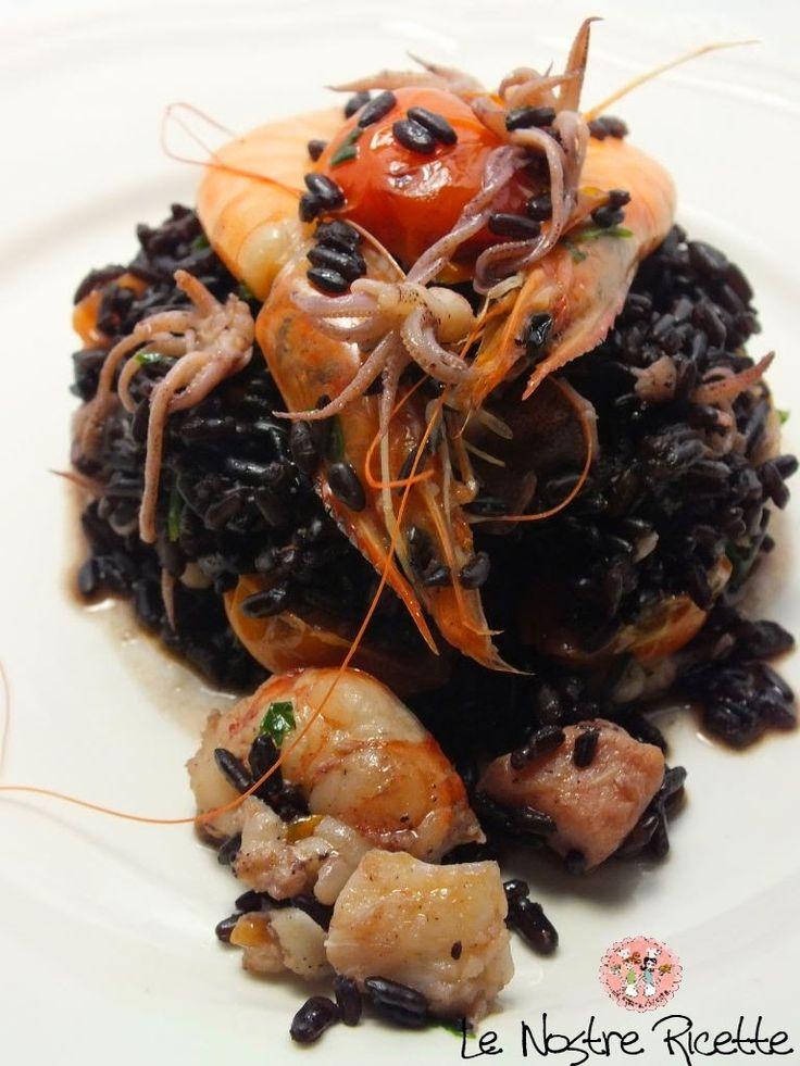 Un risotto di pesce diverso dal solito vi invito a provare questa deliziosa ricetta 250 gr di riso venere 200 gr di gamberetti inter...