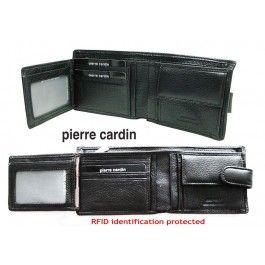 Pierre Cardin - Soft Genuine Italian Leather Wallet - Black