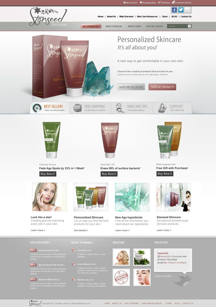 48 best images about Skin Care E-commerce on Pinterest