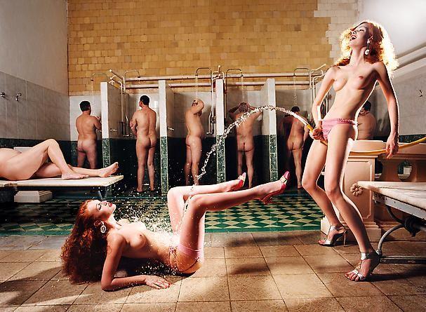David LaChapelle - Russian Bath House: Crystal Arc
