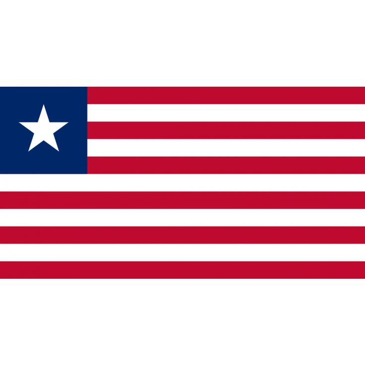 Tafelvlaggen Liberia 10x15cm | Liberiaanse tafelvlagDe vlag van Liberia is gebaseerd op de vlag van de Verenigde Staten, hetgeen een gevolg is van de historische band tussen beide landen. Liberia is gesticht door vrijgelaten slaven uit de Verenigde Staten. De vlag heeft elf rode en witte strepen, die de elf ondertekenaars van de Liberiaanse onafhankelijkheidsverklaring symboliseren.