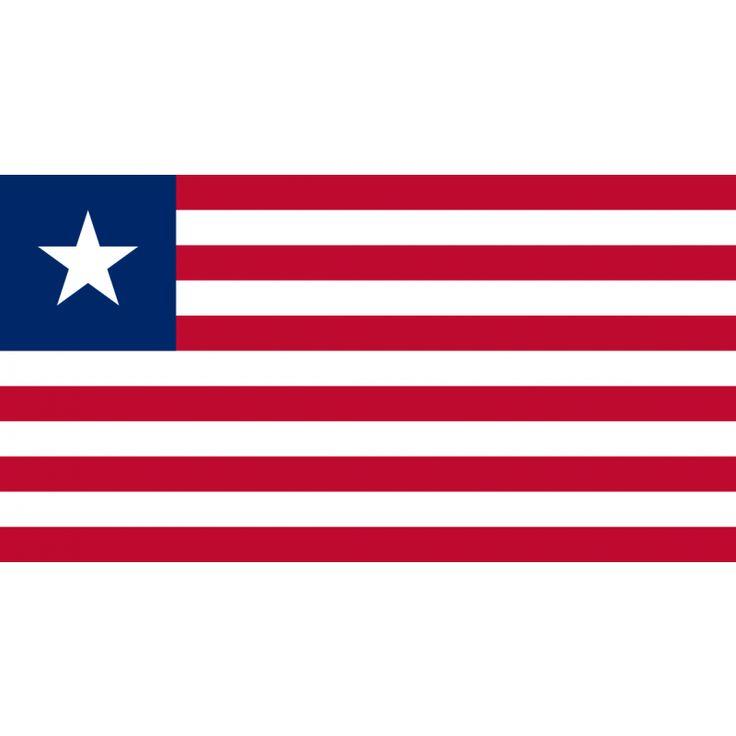 Tafelvlaggen Liberia 10x15cm   Liberiaanse tafelvlagDe vlag van Liberia is gebaseerd op de vlag van de Verenigde Staten, hetgeen een gevolg is van de historische band tussen beide landen. Liberia is gesticht door vrijgelaten slaven uit de Verenigde Staten. De vlag heeft elf rode en witte strepen, die de elf ondertekenaars van de Liberiaanse onafhankelijkheidsverklaring symboliseren.