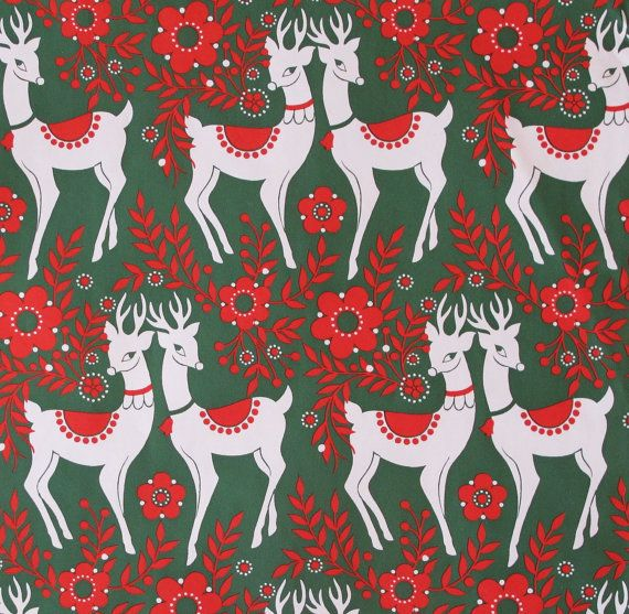 Vintage Gibson CHRISTMAS Gift Wrap Wrapping by MidCenturyAddiction, $5.25
