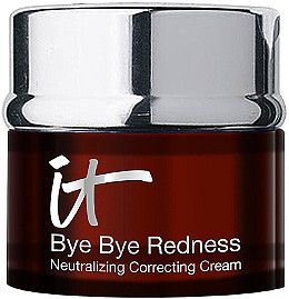 IT Cosmetics Bye Bye Redness Correcting Crème is a red neutralizing and correcting cream that completely cancels redness in your skin from view.