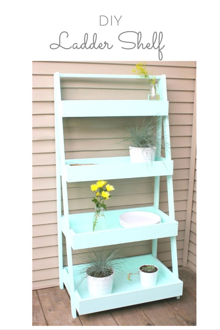 Do It Yourself Home Design: Ladder Shelves, Garden Ideas Diy And