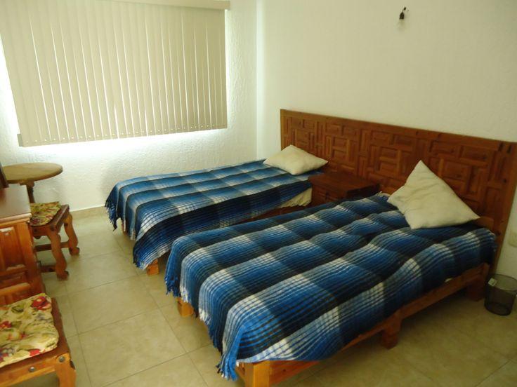 Segunda recámara de casa Tul en renta por fin de semana en Lomas de Cocoyoc. www.cocoyocbienesraices.com.mx