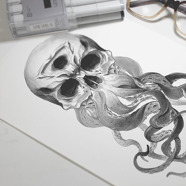 Some Skulls with tentacles i did for my clients. C: