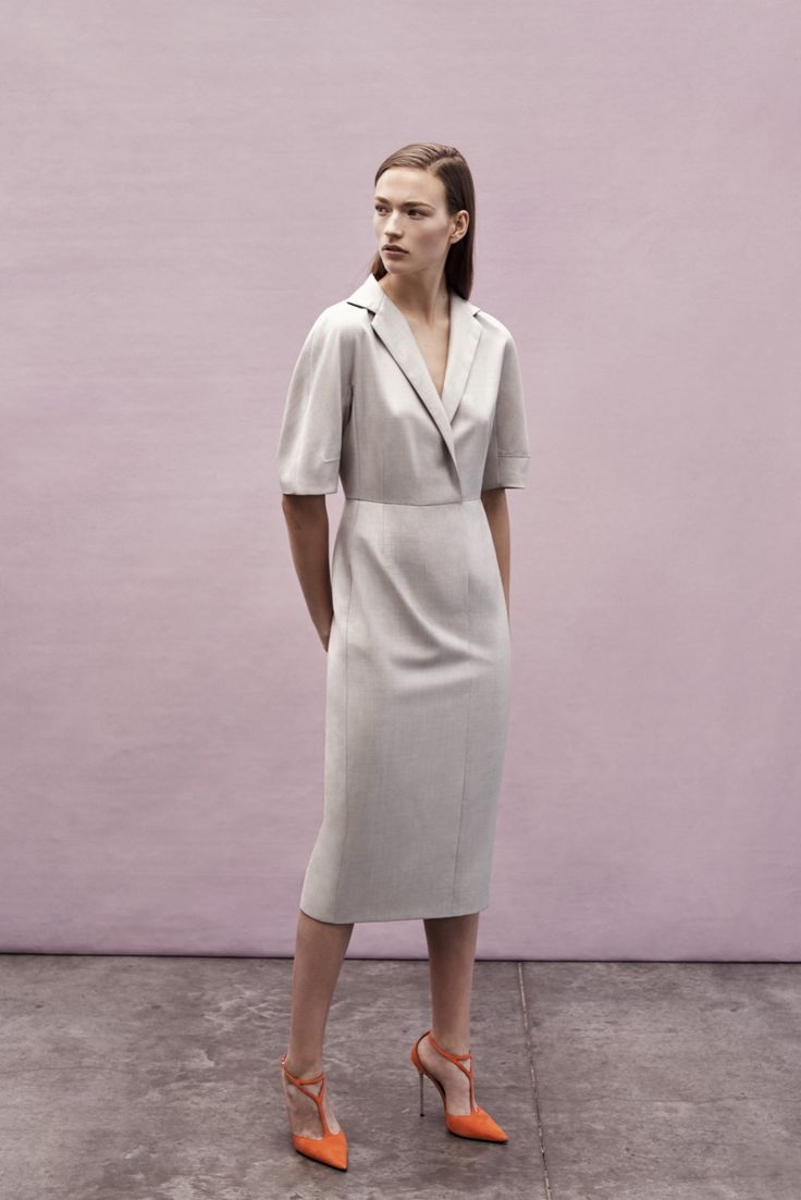 The shoes are a big NO, but the dress is awesome! Narciso Rodriguez Resort 2016 - Collection - Gallery - Style.com