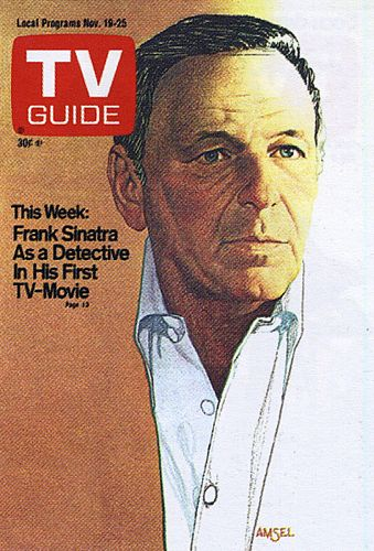 TV Guide Cover by Richard Amsel / Frank Sinatra