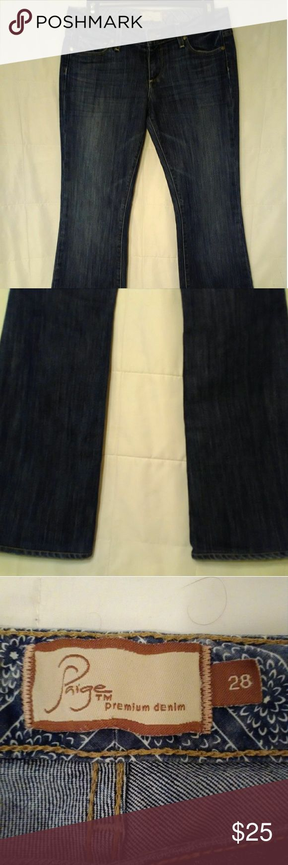 """Paige Premium Denim Boot Cut Jeans Laurel Canyon Boot cut stretch.  Very lightly worn. In excellent condition!  Measurements: Waist - 30"""" (tag reads 28) Inseam - 31"""" Paige Jeans Jeans Boot Cut"""
