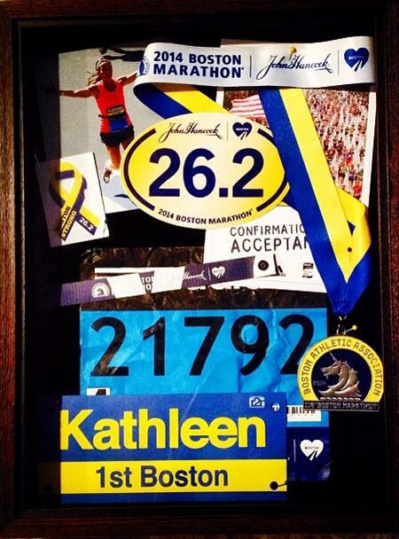 Boston Marathon 2014 Shadow Box