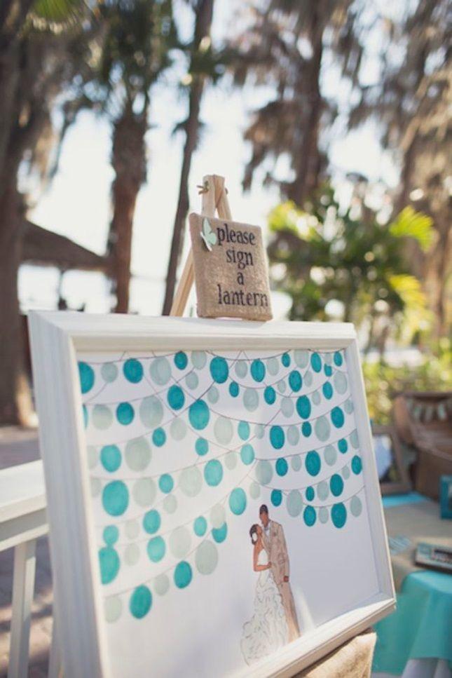 Write On! 14 Creative Wedding Guest Book Ideas via Brit + Co.