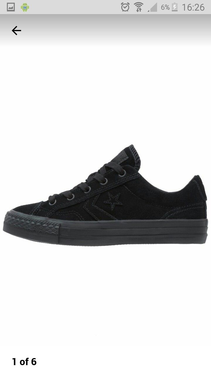 Black on black suede converse star player 40% off