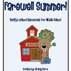 We all know summer passes quickly! Some of your students will return to school eager and ready to learn, others will be hesitant to get back in the...