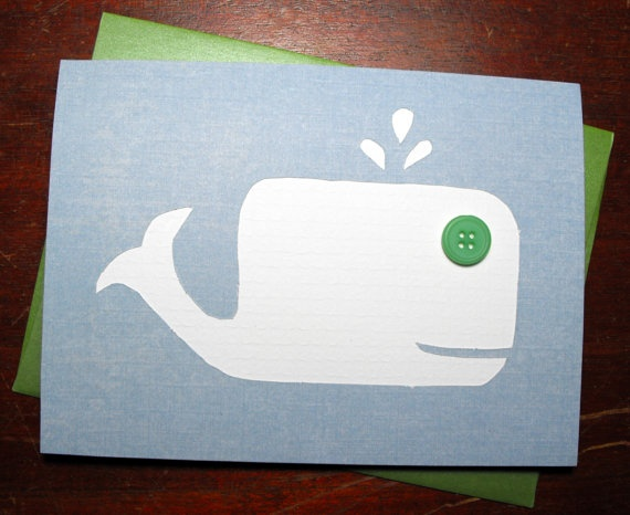 $3.50 White Whale Greeting Card