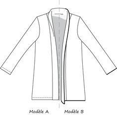 veste Cannelle Christelle Beneytout tissu 2m_à réaliser à la surjeteuse