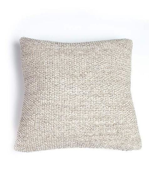 Moss Stitch Metallic Cushion Champagne/Natural | Krinkle Gifts