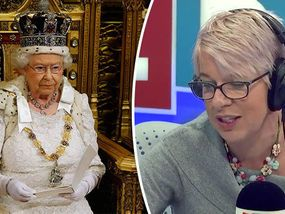AN ANGRY LBC caller accused the Queen of betraying Britain because she was constitutionally obligated to sign the Lisbon treaty in an astonishing rant.