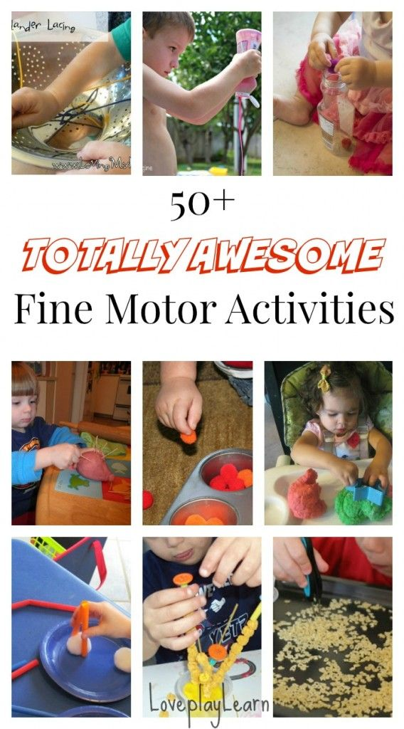 50 Totally Awesome Fine Motor Skill Activities for Kids! So many great fine motor learning activities to choose from!
