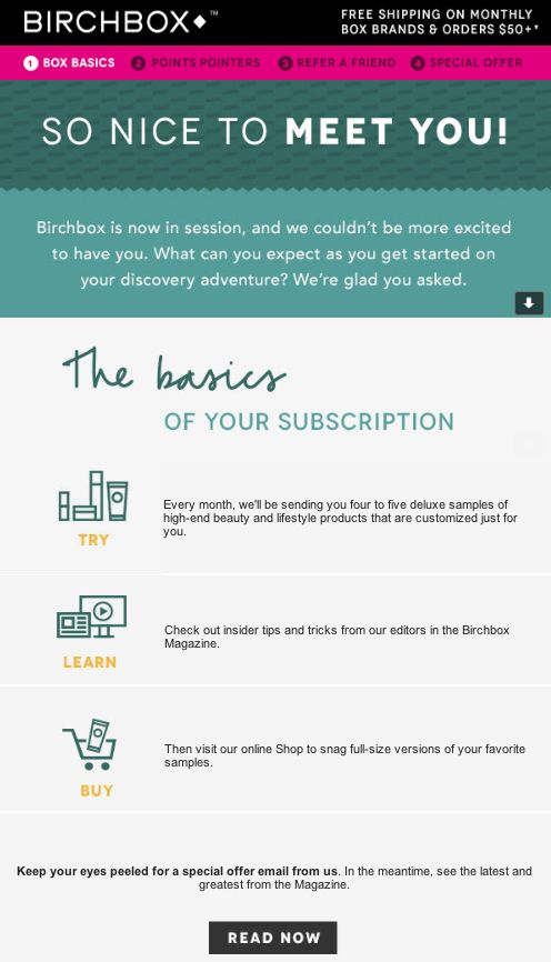 157 best Welcome emails images on Pinterest Email design, Email - product list samples