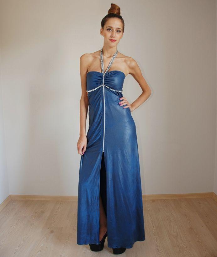 blue dress by BTB (SALE) http://www.butambenlik.com/uzun-elbiseler/mavi-uzun-elbise