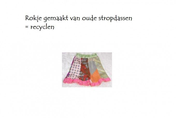 Stropdas rok is recyclen
