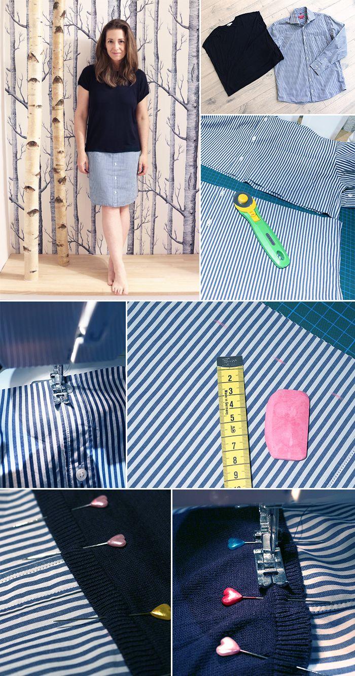 DIY, Gingered Things, Hemd, Shirt, Kleid, Upcycling, Nähen, dress, sewing