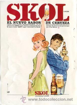 Página de publicidad Original *Cerveza  SKOL Lager* · Arce