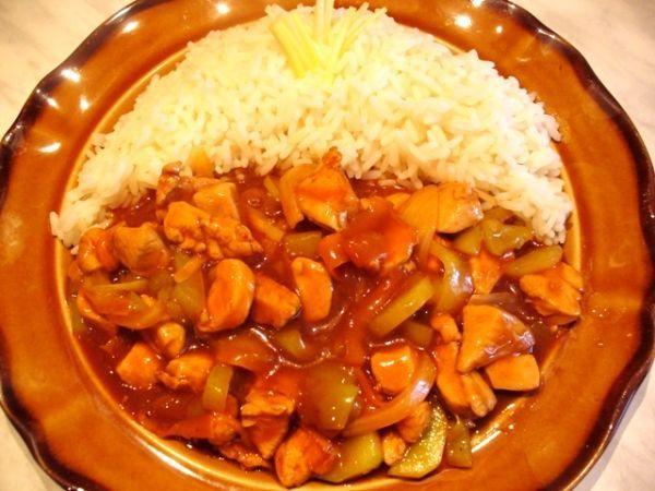 Kuřecí čína se šťavnatou zeleninkou :-)