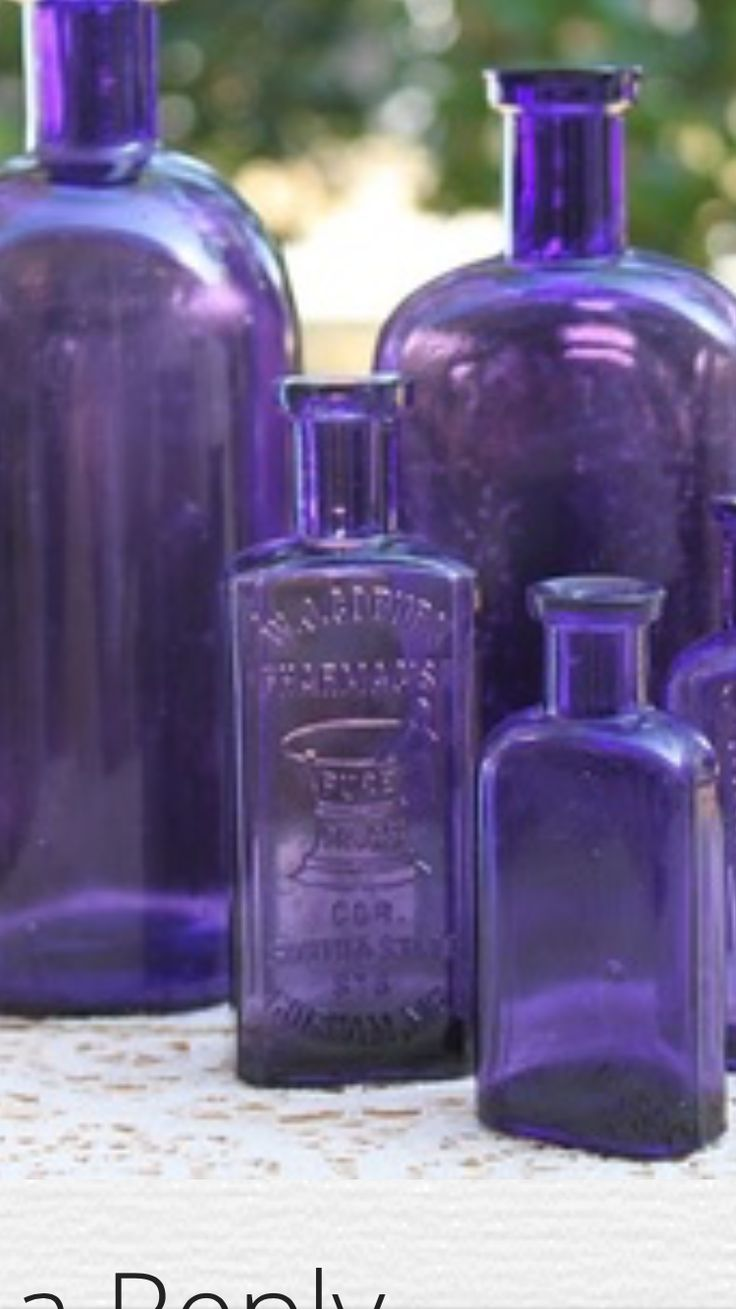 Absolute ethyl alcohol bottle vintage chemical bottle science lab - Purple Bottles I Have A Collection Of Old Bottles Most Are Blue Some Are Clear And A Few Are Purple Former Pinner My Bottles Are Clear Or Cobalt Blue