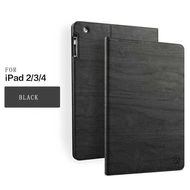 ZOYU Case for iPad 2 3 4, PU Transparent Back Ultra Slim Light Weight Trifold Smart Cover Case for iPad 2/3/4